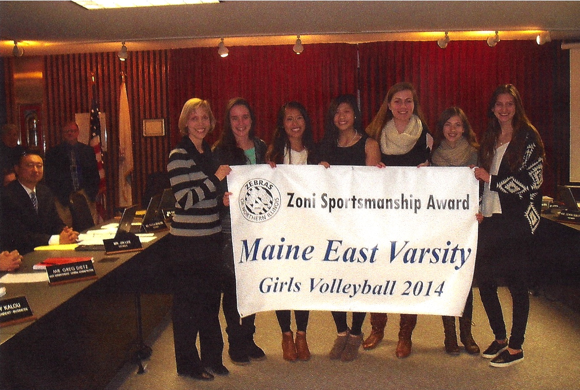 Maine East Receives Banner