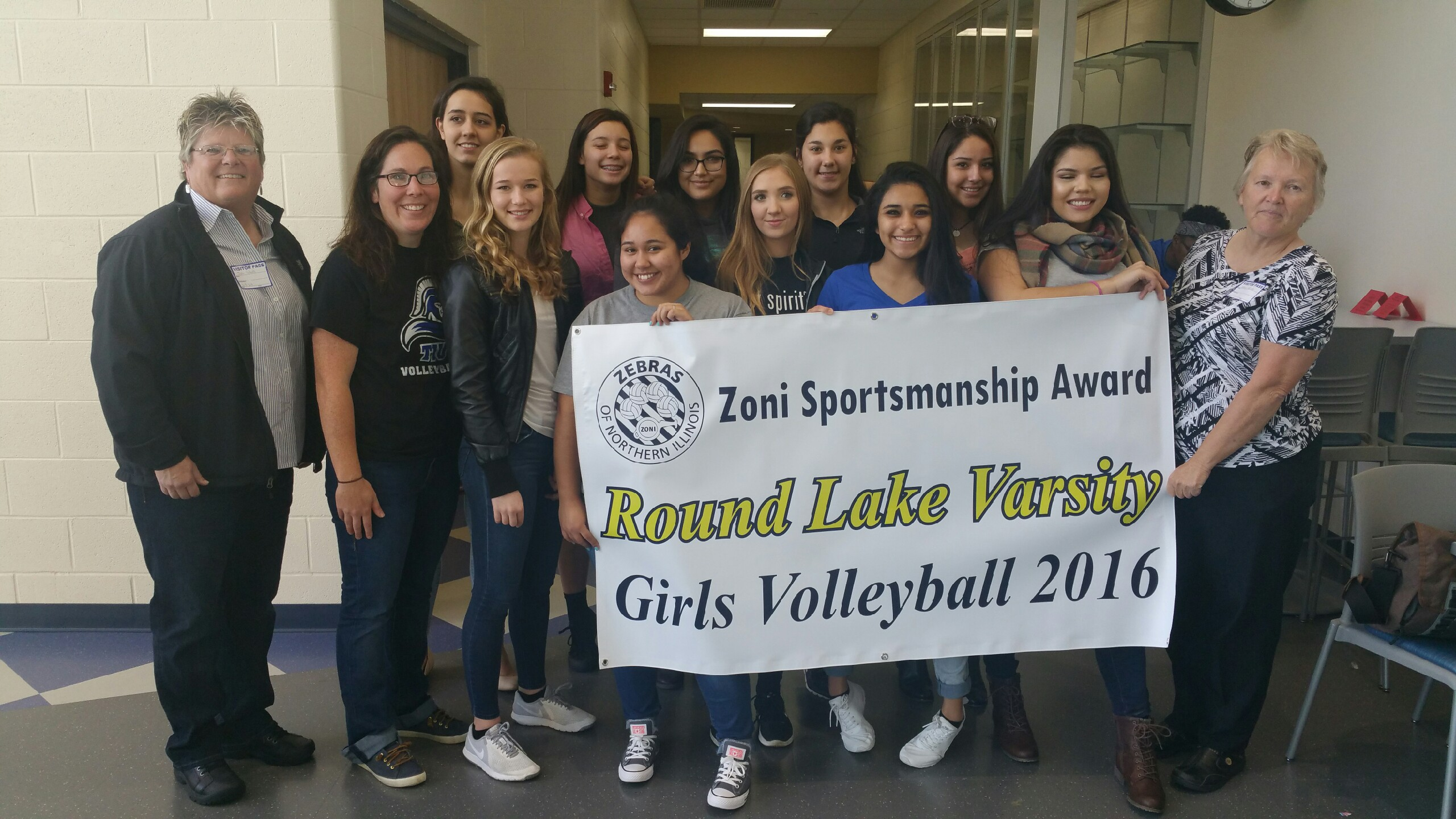Round Lake Receives Banner