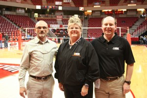 Floor Officials Mark Febonio and Julie Colwell with Officials Coordinator Ed Vesely