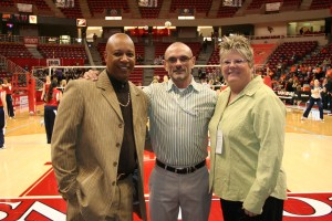 Line Judge Jason Palmer with Floor Officials Mark Febonio and Julie Colwell